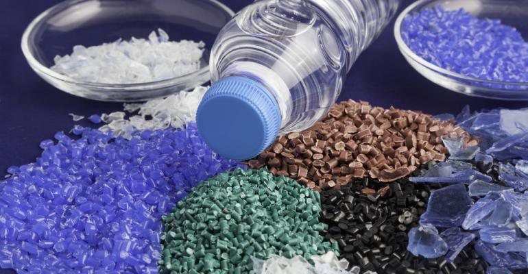 linha de produção reciclagem do plástico