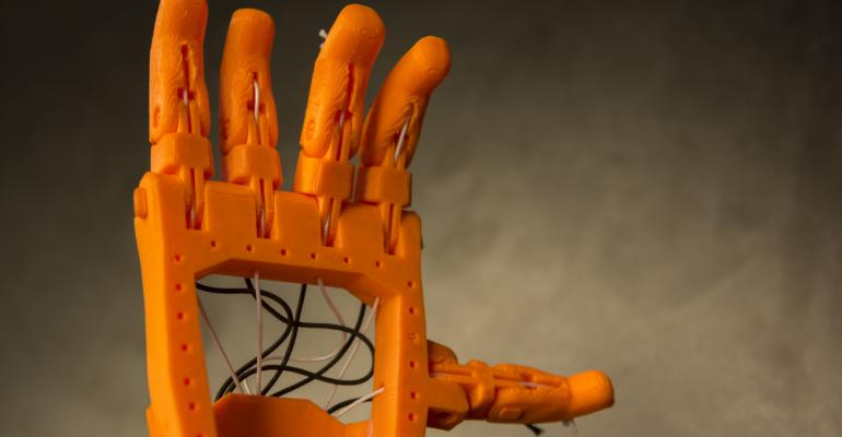 Próteses de plástico 3d impressas